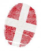 Denmark Flags in the form of fingerprints — Stock Photo
