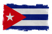 A Cuba flag with a painted white border — Stock Photo