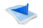 Business concept. Three-dimensional graph and charts. 3d — Stock Photo