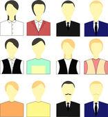 People avatar set vector — Stock Vector
