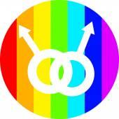 Gay life vector in circle — Stock Vector