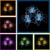 Mystic flower card vector — Vecteur