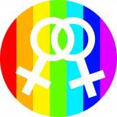 Gay life vector women in circle — Stock Vector