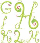 Snake alphabet green vector — Stock Vector