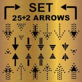 Black arrows set — Stock Vector
