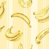 Seamless banana pattern — Stock Vector