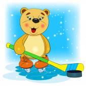 Niedźwiedź hokeista — Wektor stockowy