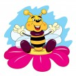 Cartoon merry bee — Stock Vector #64522455