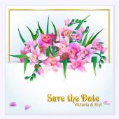 Salve a data ou o convite de casamento — Vetor de Stock