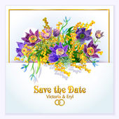 Save The Date or Wedding Invitation — Stock Vector