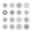 Grey flower icons — Stock Vector #64608515