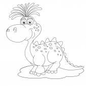Cartoon  little dinosaur — Vector de stock