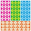 Four chic seamless patterns — Stock Vector #64611853