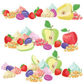 Texture with  fruits — Wektor stockowy