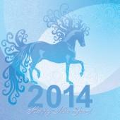 New year horse — Stock Vector