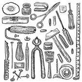 Sketch tools  set — Stok Vektör