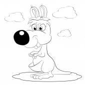 Sketch cartoon kangaroo — Stock Vector