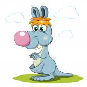Colored cartoon kangaroo — Stock Vector