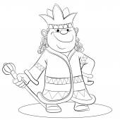 Cartoon smiling  king — Stock Vector