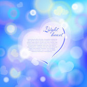 Magic heart background — ストックベクタ