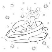 Cartoon cheerful Martian — Stock Vector