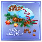 Beautiful Christmas background — Stock Vector