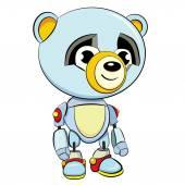 卡通熊猫机器人 — 图库矢量图片