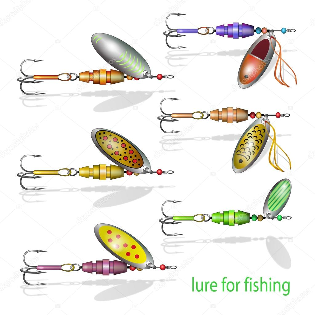 different fishing baits — stock vector © vitasunny #64663037, Hard Baits