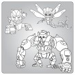 Sketch robots set — Stock Vector #64672519