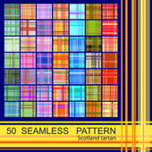Seamless patterns of scotland tartan — Stock Vector