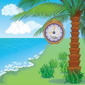 Cartoon summer sea landscape — Stock Vector