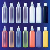 Color spray bottles set — Stock Vector