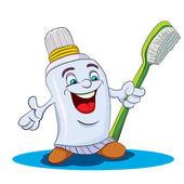 Cartoon merry tooth paste — Wektor stockowy