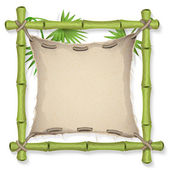 Tropical bamboo frame — Stock Vector