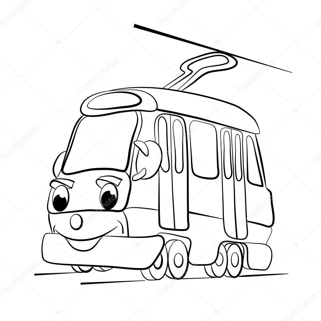 Dessin anim de joyeux tram image vectorielle vitasunny 64856969 - Dessin tramway ...