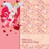 Cupid love card — Stock Vector
