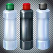 Plastic bottles set — Stock Vector