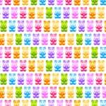 Bright gummy bears seamless pattern — Stock Vector #64977931
