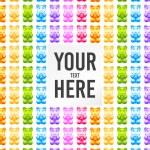 Bright multicolor gummy bears pattern frame — Stock Vector #64979987