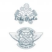 Set of biker vector badges — Stock Vector