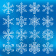 Snowflake vectors icons — Stock Vector #67874935