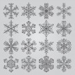 Snowflake vectors icons — Stock Vector #68238621
