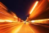 Berlín - noční jízdy — Stock fotografie