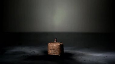 Small Firecracker explodes — Stock Video