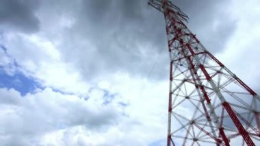 Transmission Line, Power Pole — Stock Video
