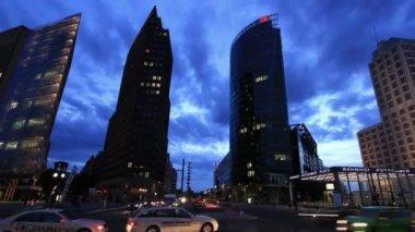 Potsdamer Platz, Berlin, Time Lapse — Stock Video