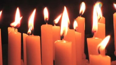 Sacrificial Candles — Stockvideo