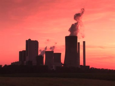 Coal-fired power plant — Stock Video