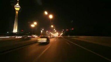 Beijing - driving through nightly Beijing — Stock Video