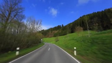 Driving Shot - Road - Germany — Stock Video